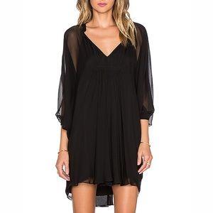 DIANE VON FURSTENBERG FLEURETTE Silk Black Dress
